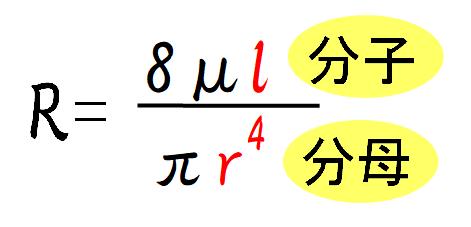 気道抵抗の計算式