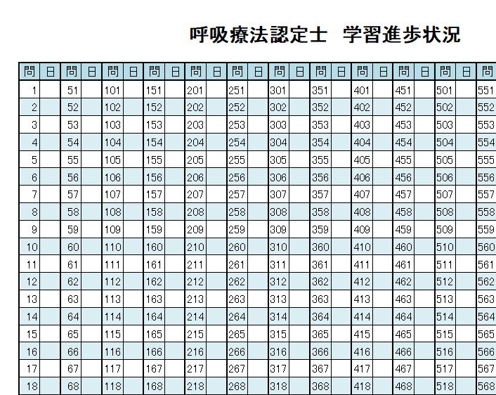 学習記録表